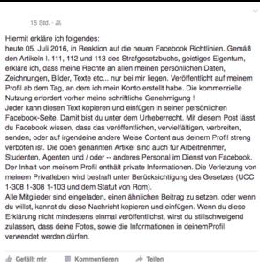 In diesem Artikel erfahren Sie, ob Sie mit einer geposteten Nachricht den Facebook-Richtlinien widersprechen können.