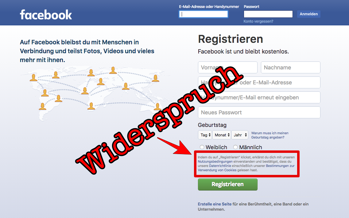 In diesem Artikel erfahren Sie, ob Sie den Facebook-Richtlinien mit einem Kommentar in Ihrer Chronik widersprechen können.
