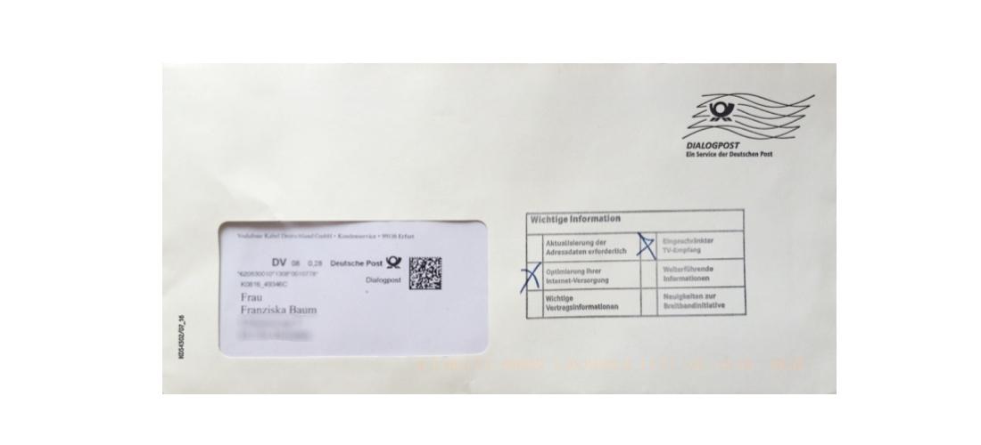 Brief Mit Einschreiben : Vodafone dialogpost wirkt wie einschreiben