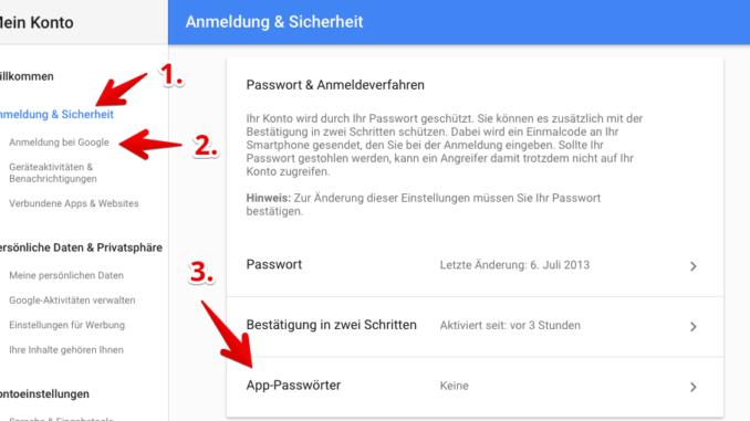 App-Passwörter erstellen