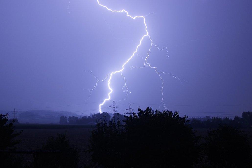 Unwetter Richtiges Verhalten bei Gewitter
