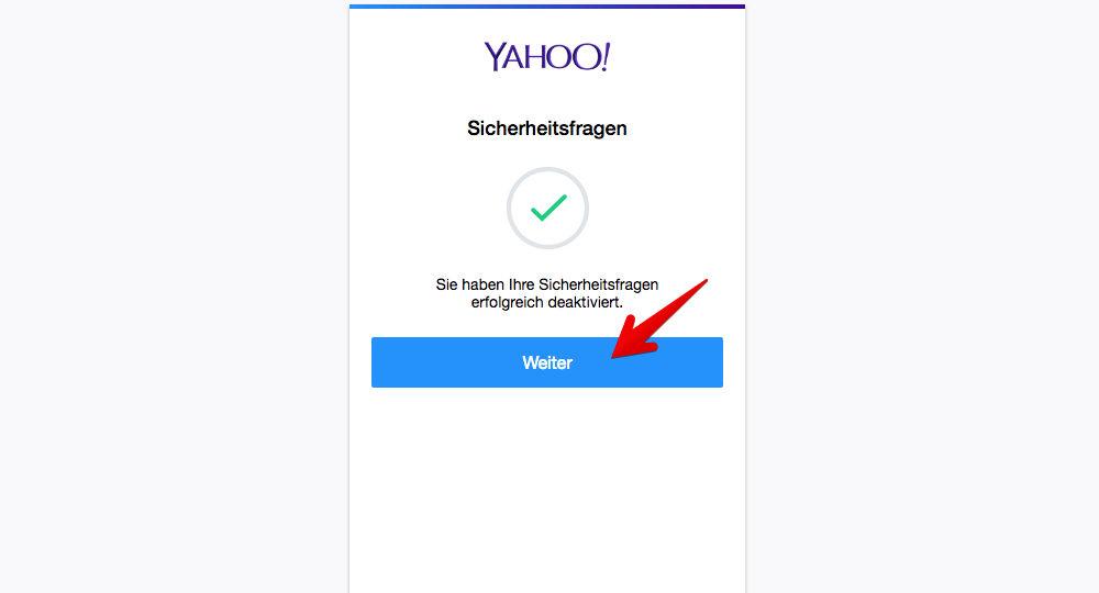 """Abschließend klicken Sie auf """"Weiter"""". (Quelle: Screenshot)"""
