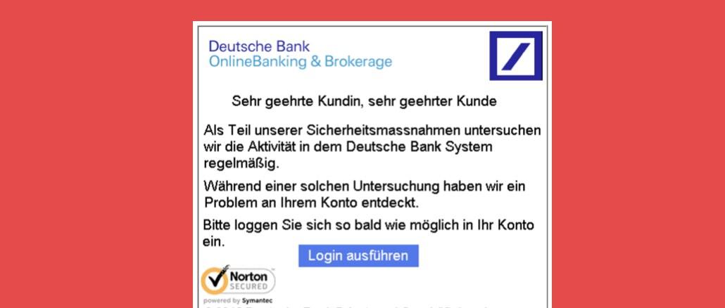 2016-10-24 Phishing- Deutsche Bank