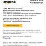 Vorsicht: Phishing-Angriff mit Amazon E-Mail