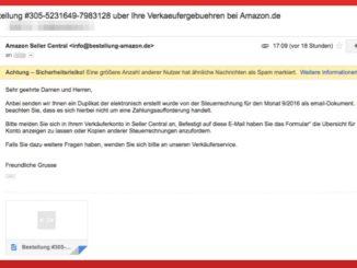 Amazon Virus Verkäufergebühren