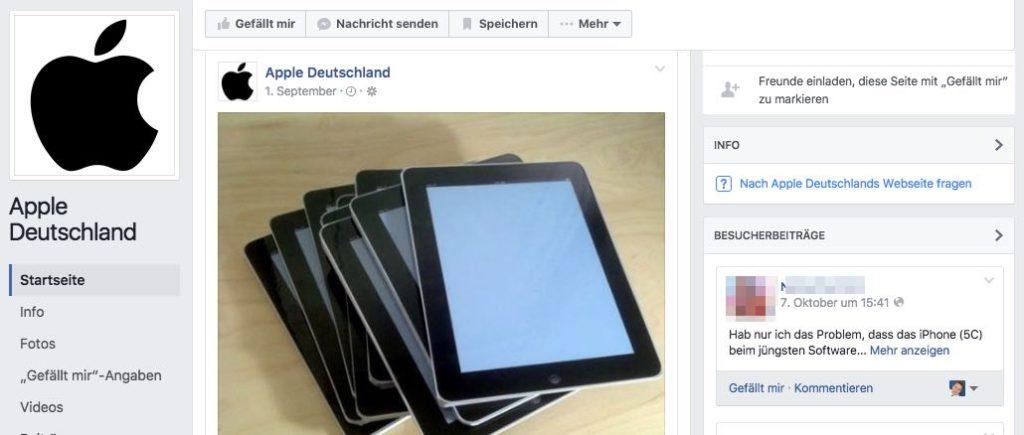 Apple Deutschland Post