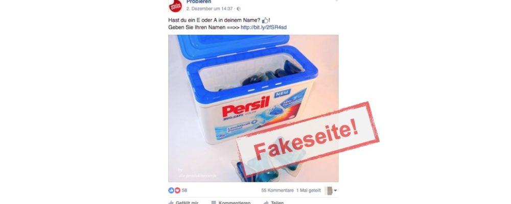 Die Seite Probieren auf Facebook ist eine Fakeseite