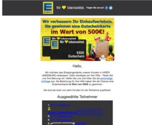 Warum es sich bei dem Edeka Gewinnspiel um einen Fake handelt, erfahren Sie in diesem Artikel.