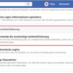 FB zweistufige Authentifizierung Bild 2