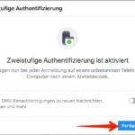 FB zweistufige Authentifizierung Bild 7
