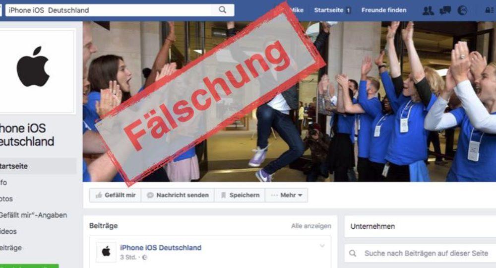 Facebook-Fake: Apple-Gewinnspiele sind eine Fälschung