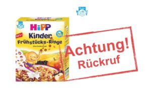 HiPP ruft Kinder Frühstücks-Ringe zurück