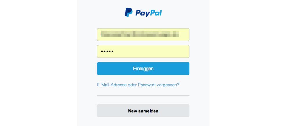 Paypal Phishing Anhang