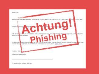Phishing-Mail Telekom: Vorsicht vor unseriösen Nachrichten