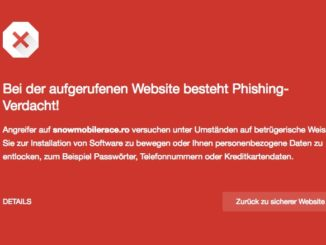 Phishing Warnung