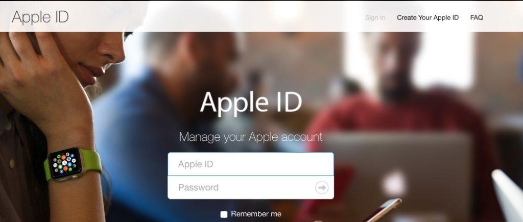 Phishing Webseite Apple ID Beispiel