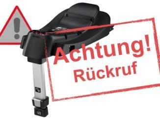 Rückruf Recaro Autokindersitz wegen Sicherheitsrisiko