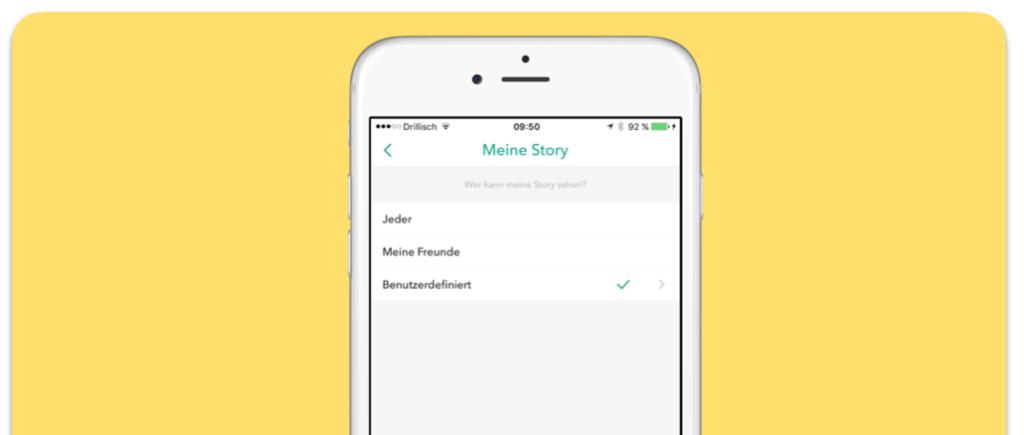 Snapchat Meine Story Sichtbarkeit