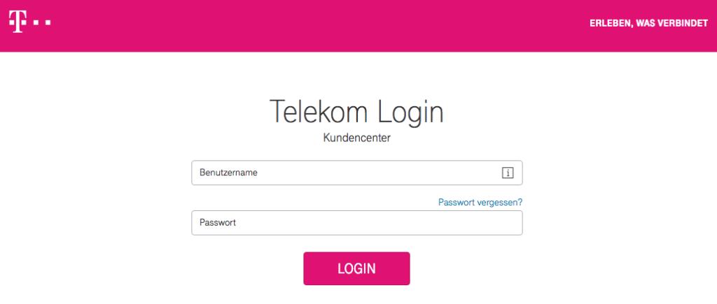 Telekom Kundencenter manuell aufrufen