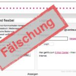 Telekom Phishing Webseite