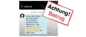 eBay Kleinanzeigen- SMS-Gutschein Phishing