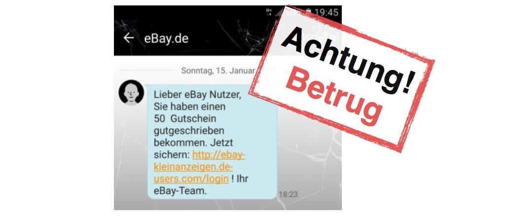 ebay kleinanzeigen sicherheitswarnung sms lockt nutzer auf. Black Bedroom Furniture Sets. Home Design Ideas