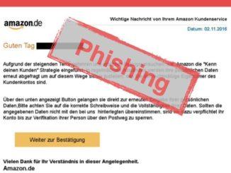 2016-11-02 Amazon Phishing Nachricht