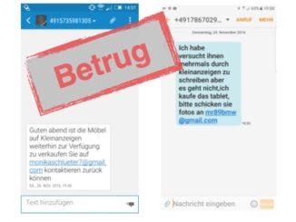 Betrug SMS ebay-Kleinanzeigen
