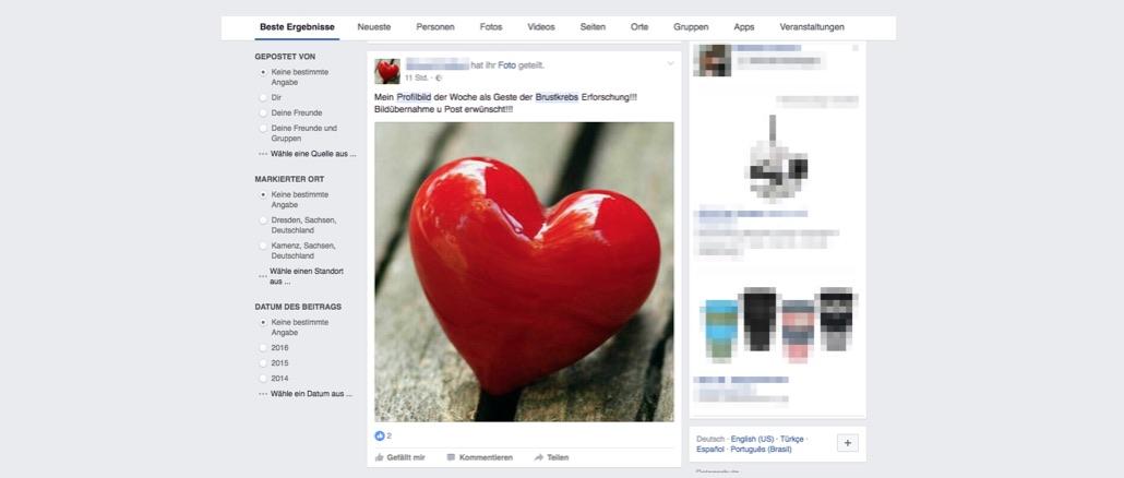 Brustkrebs: Neuer Kettenbrief in Facebook, WhatsApp, Instagram und anderen sozialen Netzwerken