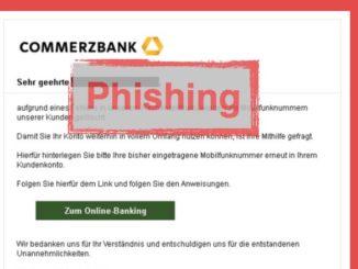 Commerzbank: Phishing-Nachricht