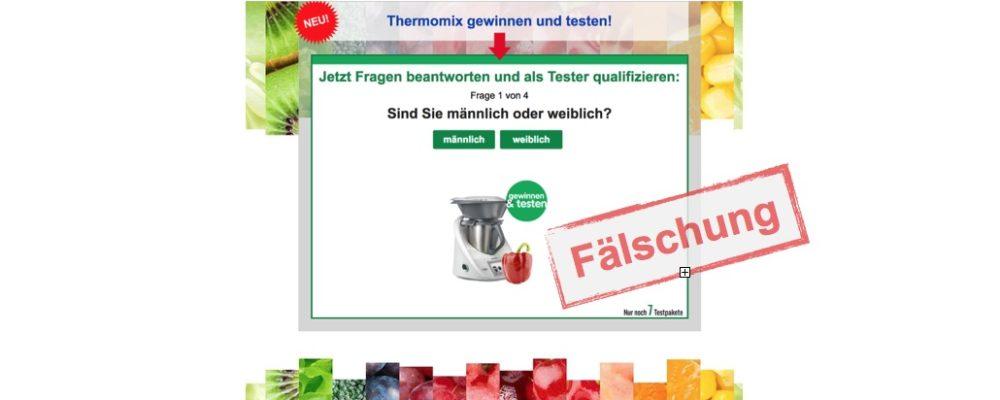 """E-Mail """"Wollen Sie eine Thermomix testen"""" ist eine Täuschung"""