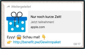 Eyyy Schau mal Kettenbrief WhatsApp
