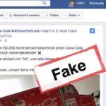 Facebook Gewinnspiel Coca-Cola Weihnachtstruck-Adventskalender Betrug