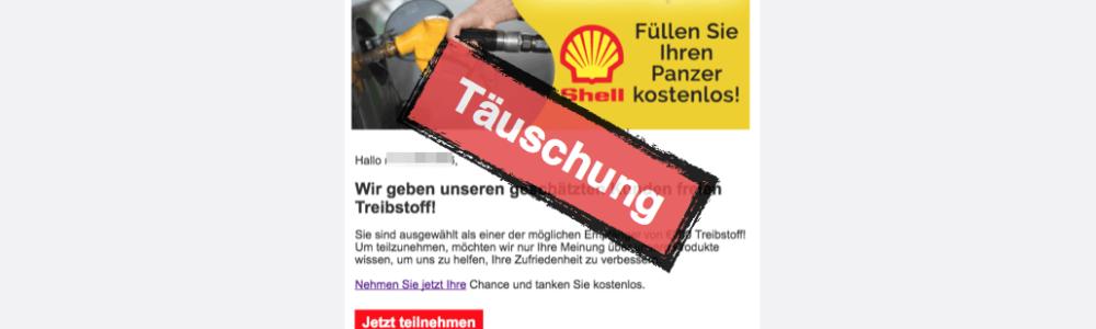 E-Mail mit Shell-Gewinnspiel ist Betrug (Update)
