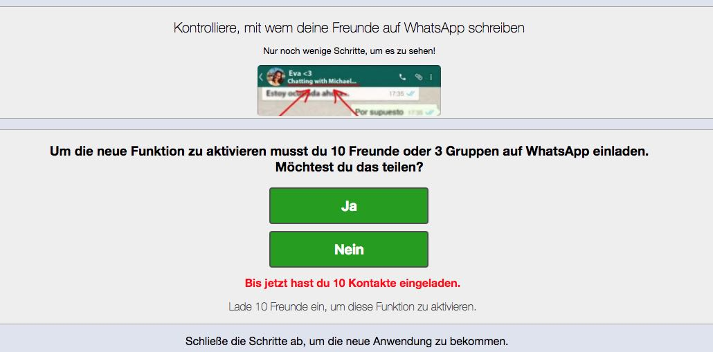 neuer spam in whatsapp: finde heraus, mit wem deine freunde chatten, Einladung
