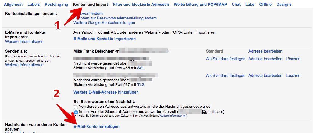 Gmail Konten verbinden 2