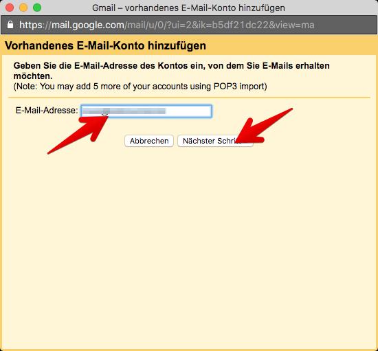 Gmail Konten verbinden 3