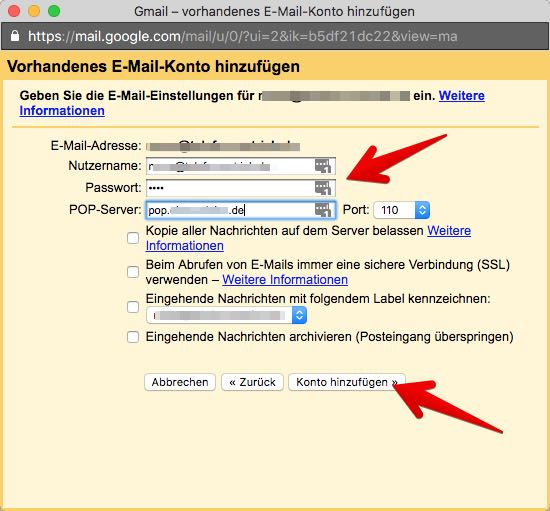 Gmail Konten verbinden 4