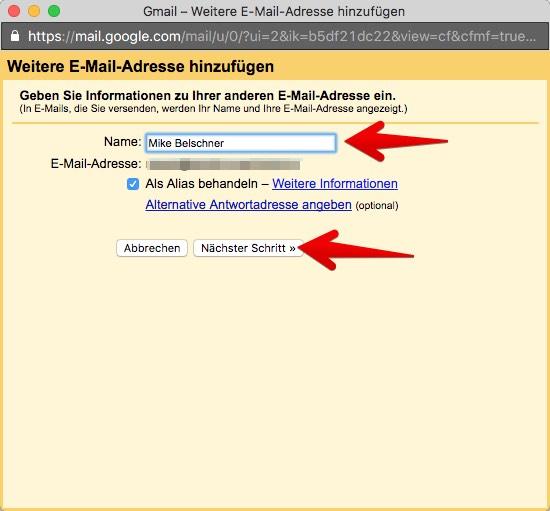 Gmail Konten verbinden 6