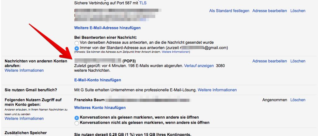 Gmail Konten verbinden 9