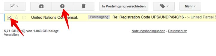Gmail Spam kennzeichnen