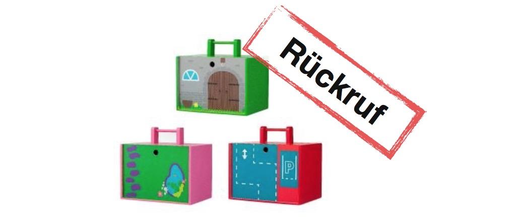 HEMA Rückruf: Holzspielzeug in Transportkiste