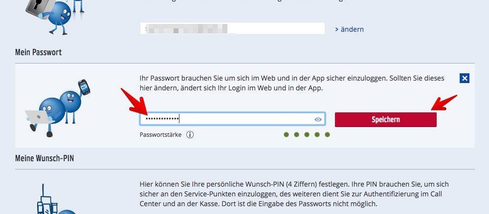 """4. Geben Sie das neue Passwort ein und bestätigen Sie Ihre Wahl mit einem Klick auf """"Speichern"""". Das neue Kennwort ist sofort gültig.  (Quelle: Screenshot/payback.de)"""