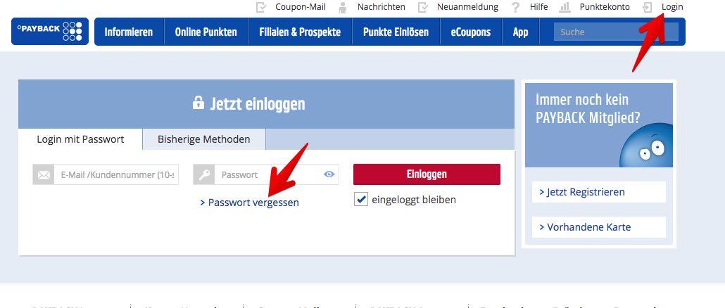 Payback Karte Anmelden.Payback Pin Vergessen Oder Passwort Vergessen Anleitung