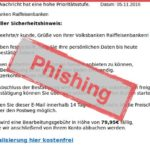 Phishing-E-Mail Volksbank Raiffeisenbank Spardabank