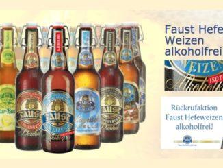 Rückruf Faust Hefeweizen alkoholfrei