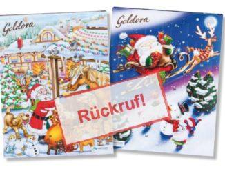 Rückruf Norma: Goldora Adventskalender der Firma Rübezahl
