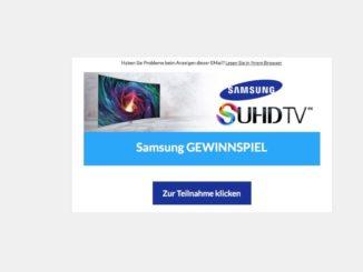 Samsung-Gewinnspiel ist eine Kostenfalle