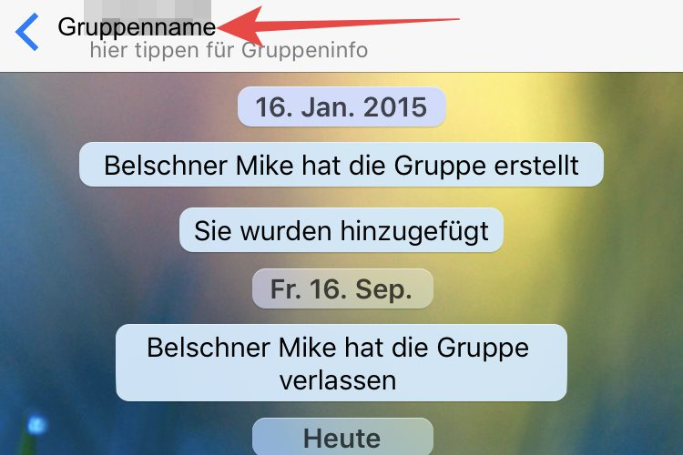 Gruppe In Whatsapp