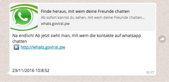 WhatsApp Spam Finde heraus mit wem deine Freunde Chatten